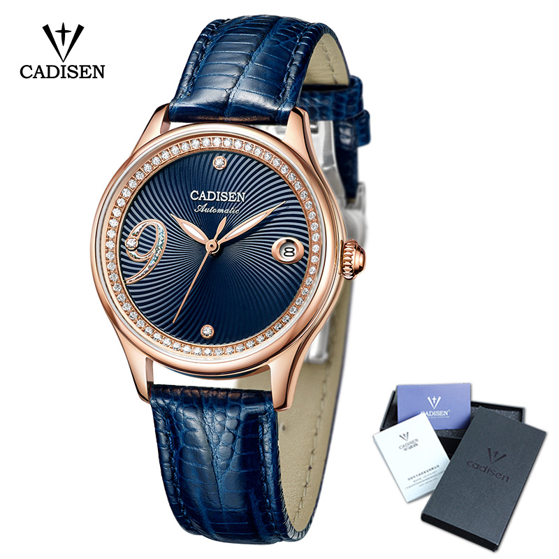2018 New CADISEN Women Watch Automatic Mechanical Leather Couples Fashion Business WatchTop Brand Luxury Waterproof Wristwatch brand fashion luxury watch women business