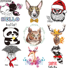 ZOTOONE Lovely Cartoon Animal Iron on Applications Stickers Clothes DIY Heat Transfer Washable Application Thermo E