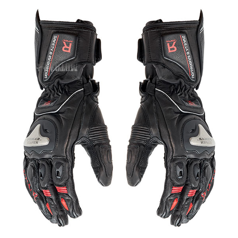 Vemar full finger Carbon Fiber +metal Motorcycle Gloves  Genuine Leather Men Cycling Racing motocross Guantes Moto luvas hot sale motorcycle gloves motorbike moto luvas motociclismo para guantes motocross 01c motociclista women men racing gloves