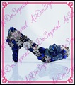 Aidocrystal 2016 Nuevo hecho a mano de lujo Zapatos de boda rhinestone Nupcial vestidos Zapatos de Punta redonda de cristal Prom party tacones altos