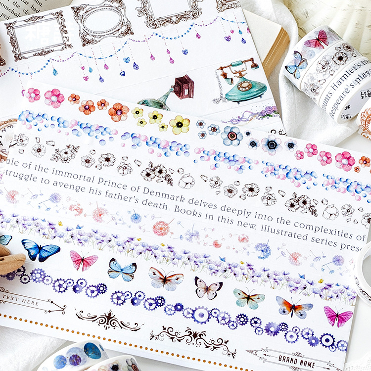 ><font><b>8pcs</b></font>/lot Mohamm Decoration Cue <font><b>Kawaii</b></font> Washi Tape <font><b>Set</b></font> Stickers Decorative Scrapbooking <font><b>Japanese</b></font> Stationery Girl