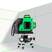 Hot Sale High Performance 360 Horizontal Red lines Green lines 3D 12Lines Laser Level Self Leveling Instrument Auto Threading