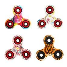 6 Colors Tri font b Spinner b font Fidgets Anti Stress Sensory Leopard Fidget font b