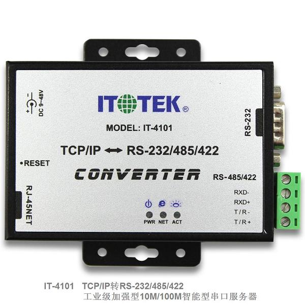 Industrial Grade TCP/IP Ethernet To RS232/485/422 Three In One Serial Port Server IT-4101