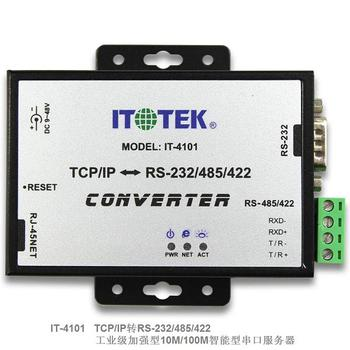 цена на Industrial grade TCP/IP Ethernet to RS232/485/422 Three in one serial port server IT-4101