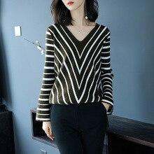 Womens Fashion Winter Pullover Knitswear Flare Sleeve Sweater