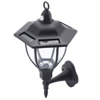 NEW 6 Sided Outdoor Wall Lantern Exterior Light Fixture Motion Sensor Garden Lamps Building Automation Home