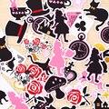 40 unids hecho a Sí Mismo Hermoso Alice Wonderland Pakc Álbumes de Fotos Scrapbooking Pegatinas De Flores DIY Etiqueta Engomada Del Arte DIY de Deco Del Diario Deco