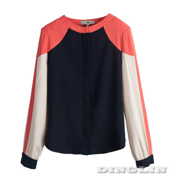 Hot !!! New Fashion Shirt For Women Blouse Long Sleeve Casual Slim Fitted Chiffon Blusas Top Clothing Black Free Shipping 0146