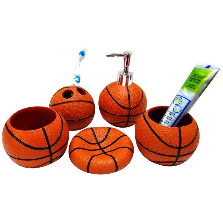 2018 style européen cinq pièces salle de bain accessoires créatifs Sport basket-ball salle de bains ensembles