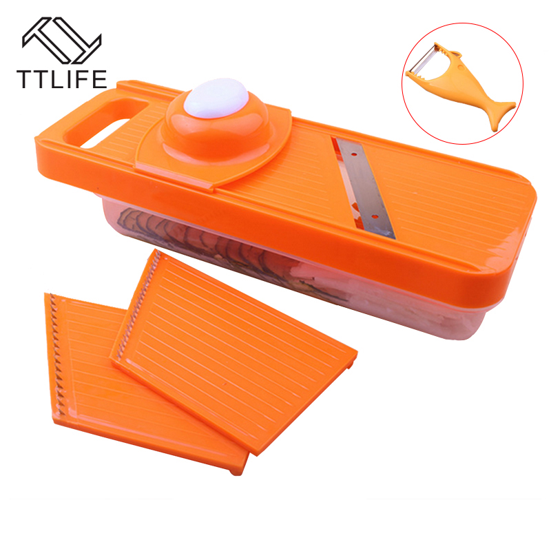 TTLIFE New Multifunction Kitchen Cutters Gouging Shredder High Quality Stainless Steel Material Veggie Chopper Kitchen Tools