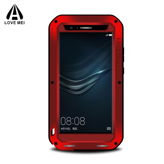 buy online c1a94 73464 US $37.33 |Love mei Huawei P9 Plus Case Metal Aluminum Armor Waterproof  Shockproof Gorilla Glass Luxury Cover For Huawei P9 Plus Phone Case-in  Fitted ...