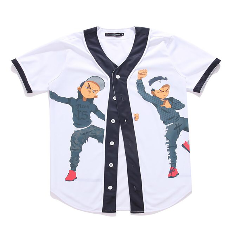 Cloudstyle 2018 Women Men's Clothing Summer Baseball T Shirt 3D Print White T-shirt Kung Fu Twin Boys Funny t shirt homme