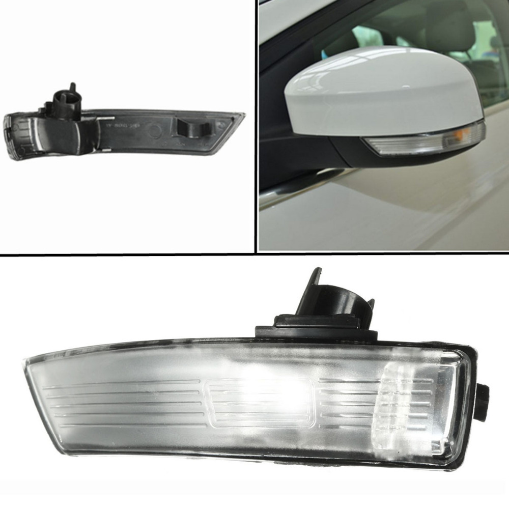 Liplasting Plastic Durable Left Side Wing Mirror Indicator Turn Signal Lamp Lens Cover Replacement for Ford Focus 2008-2016 1 psc left side mirror indicator light turn signal lamp for mazda 6 2 0l 2008