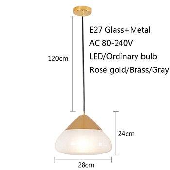 מודרני פשוט זכוכית יחיד ראש תליית תאורה E27 LED תליון מנורות עבור מטבח חדר אוכל סלון חדר שינה ליד המיטה קפה