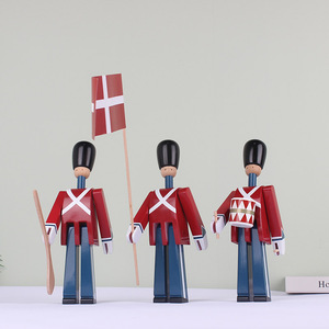 Image 4 - Nordic Danish Soldier Wooden Decoration Creative Home Childrens Model House Decoration Puppet Decoration Handmade Solid Wood