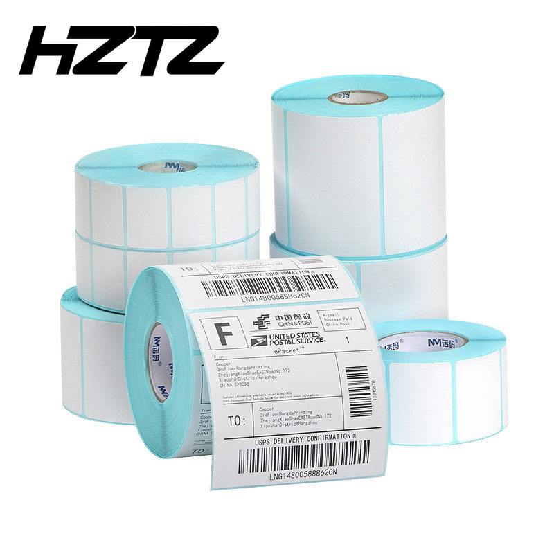 Thermal Label Sticker Width 30mm~80mm Top Coated Thermal Paper Adhesive Stickers