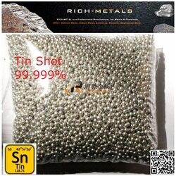 Оловянные металлические снимки, жестяные гранулы, 99.999% + (5N) чистый, диаметр 2 ~ 5 мм, 1000 грамм