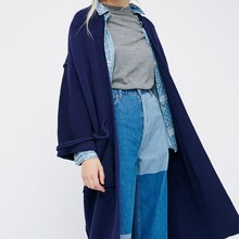 Women Long Cardigan Autumn Winter Long Sleeve Knitted Sweaters With Pocket Poncho Woman Kimono Tops