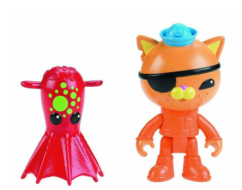 Octonauts action figures Kwazii & the Vampire Squid child Toys 6-8cm kingcamp child action 3834