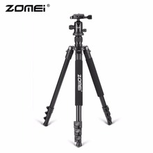 Wholesale prices Zomei Q555 Professional Aluminum Camera Tripod Stand With Ball Head Quick-Release Plate For DSLR Camera With Carrying Case