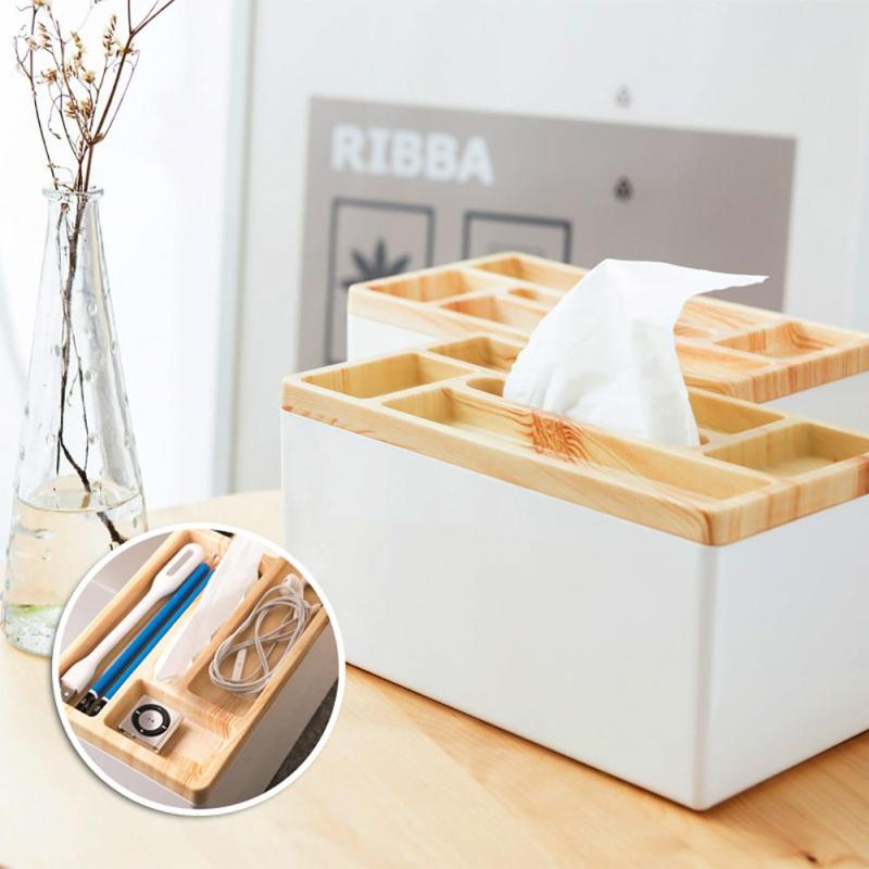 Nice Home Trendy Series Vintage Style Handmade Tissue Boxes Multifunction  Stationery Storage Box For Living Room Study