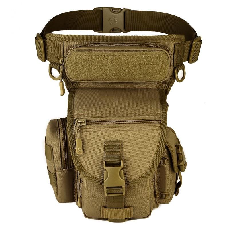 Men Drop Leg Bags Waist Pouch Military Waist Pack MOLLE Fanny Packs money Belt bag women Hip Bum Travel Motorcycle Ride bag sac недорого