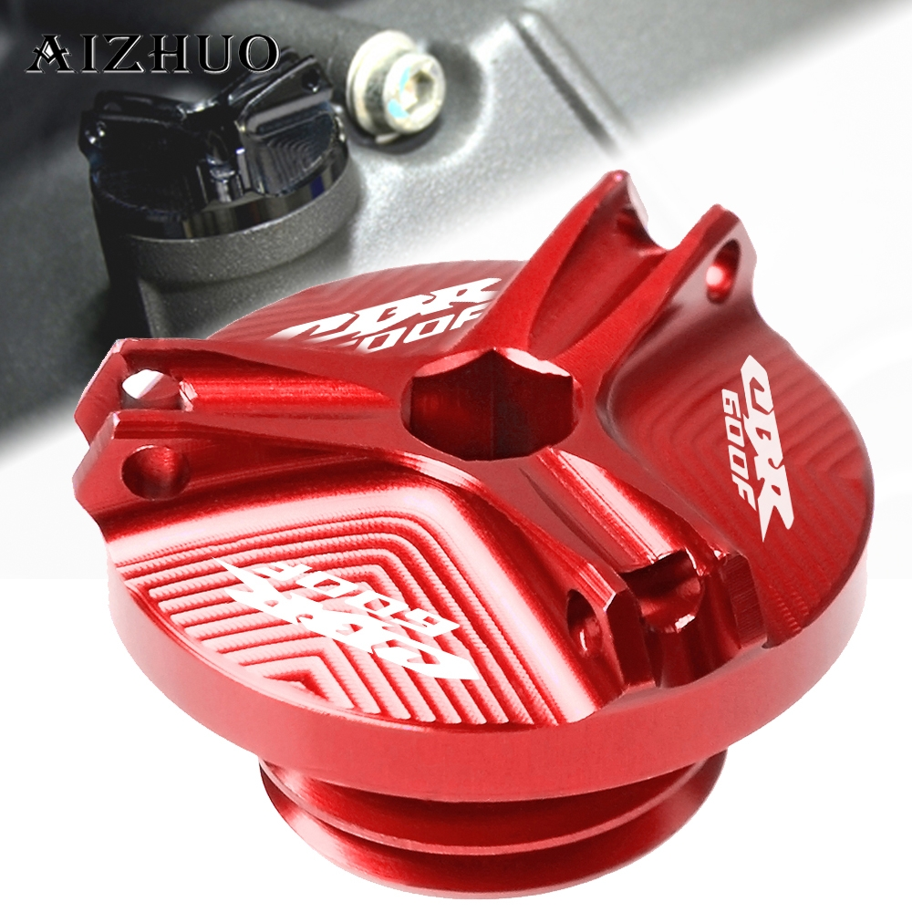 Motorcycle Engine Oil Filler Cup Cap Oil Filler Cap Plug Cover For HONDA CBR600F CBR 600F CBR600 F 1991 2007 2006 2005 2004 2003 in Covers Ornamental Mouldings from Automobiles Motorcycles