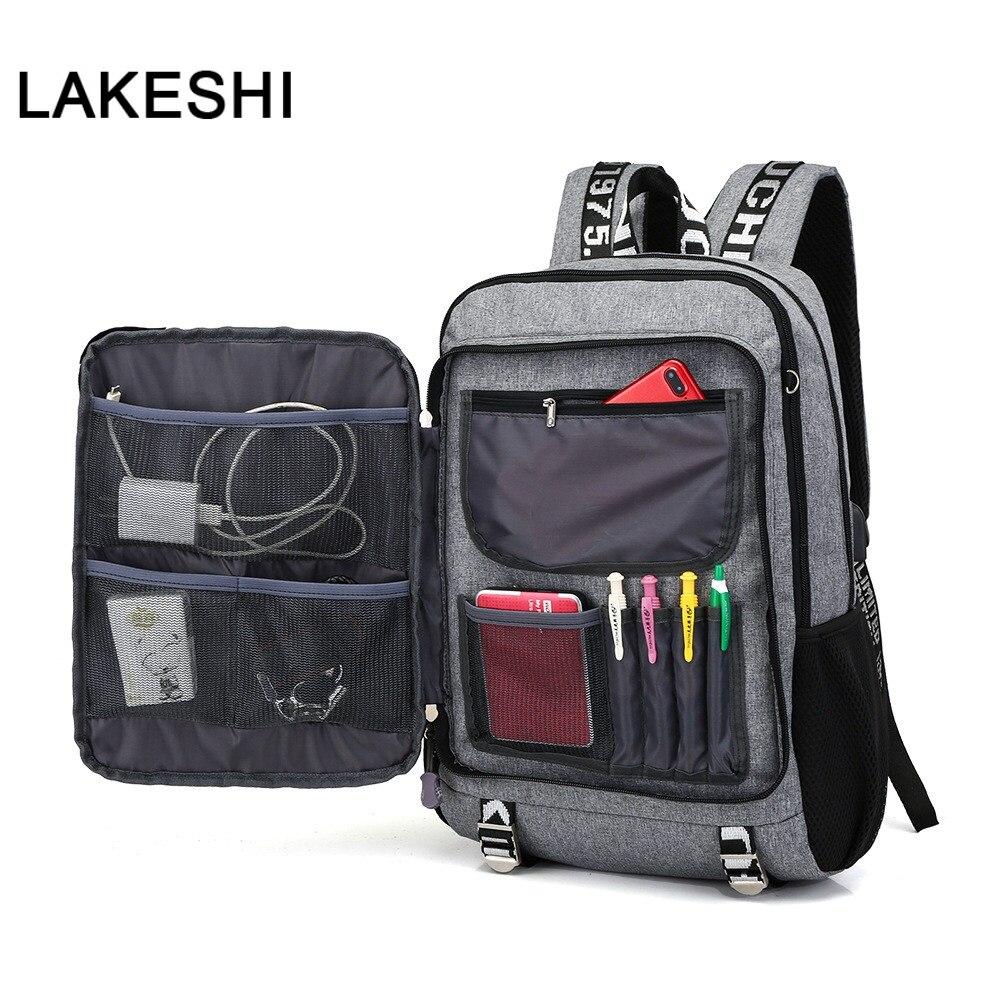 USB Charging Student Backpack School Bags Waterproof Casual Travel Backpack Schoolbag School Backpacks For Teenage Boy Pack Back