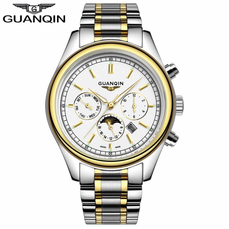 GUANQIN GQ12002 New Business watches Men Luxury Brand font b men s b font watch Full