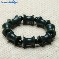 Wholesale Dark Green Xinjiang Hetian Natural Stone Bracelets Bamboo Festival Lucky For Women Men Original Bracelet