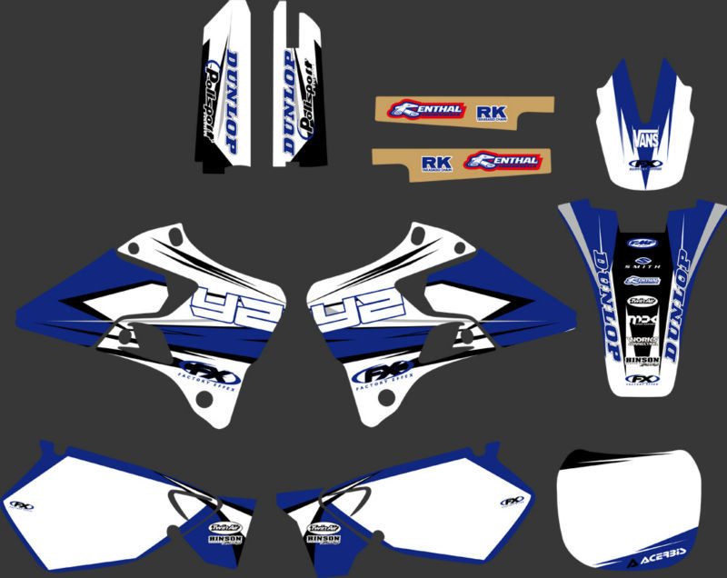 GRAPHICS & BACKGROUNDS DECALS STICKERS Kits for Yamaha YZ125 YZ250 1996 1997 1998 1999 2000 2001 YZ 125 250