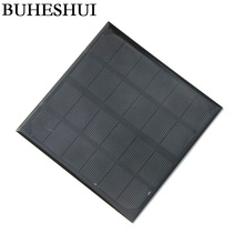 BUHESHUI 3W 6V Monocrystalline Solar Panels Small Solar Power 3 6V Battery Charger Solar Cell 24pcs