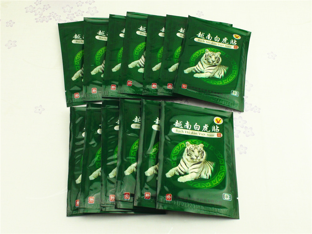 104 Pcs Vietnam White Tiger Balm Patch Cream Body Neck Massager Meridians Stress Pain Relief Arthritis Capsicum Plaster C161 12