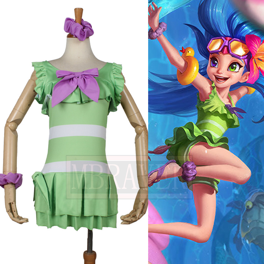 LOL Aspect of Twilight Zoe Swimwear Swimming Pool Party Swimsuit Beach Party Cosplay Costume Custom made Free Shipping
