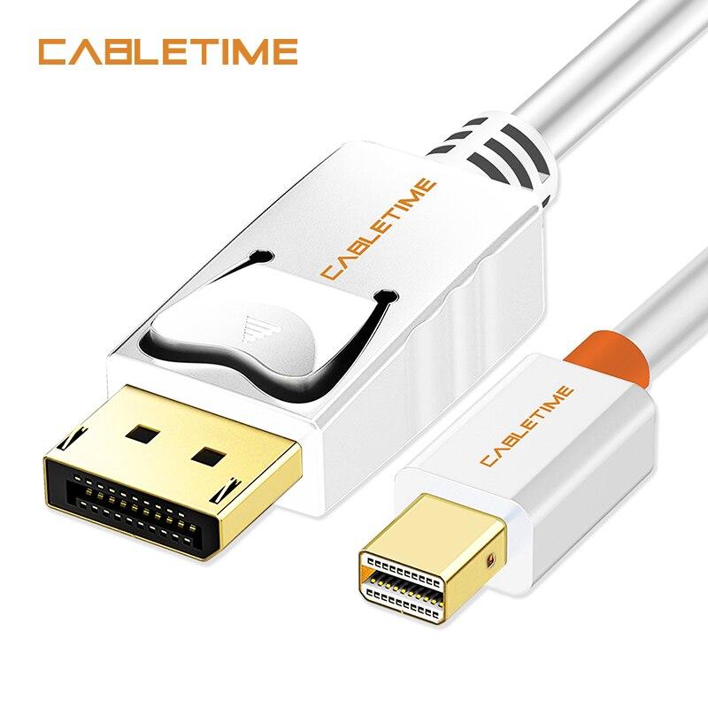 Cabletime Mini Display Port to Display Port Cable mini dp to dp Thunderbolt to DP HD Cable Mini DisplayPort DP For Macbook N024