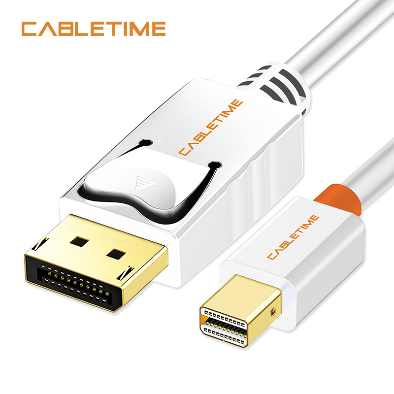 Cabletime Mini puerto de pantalla a pantalla Puerto Cable mini dp a dp Thunderbolt a DP Cable HD Mini DisplayPort DP para Macbook N024