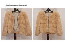 Genuine rabbit fur coat with crystal women short Beaded rabbit fur jacket winter fur waistcoats Free shipping
