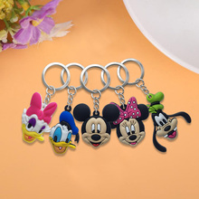 20pcs/lot Mickey PVC Keychain Key Trinket Key Ring Gift For Women Girls Bag Pendant PVC Figure Charms Drive Saft Key Chains цена и фото