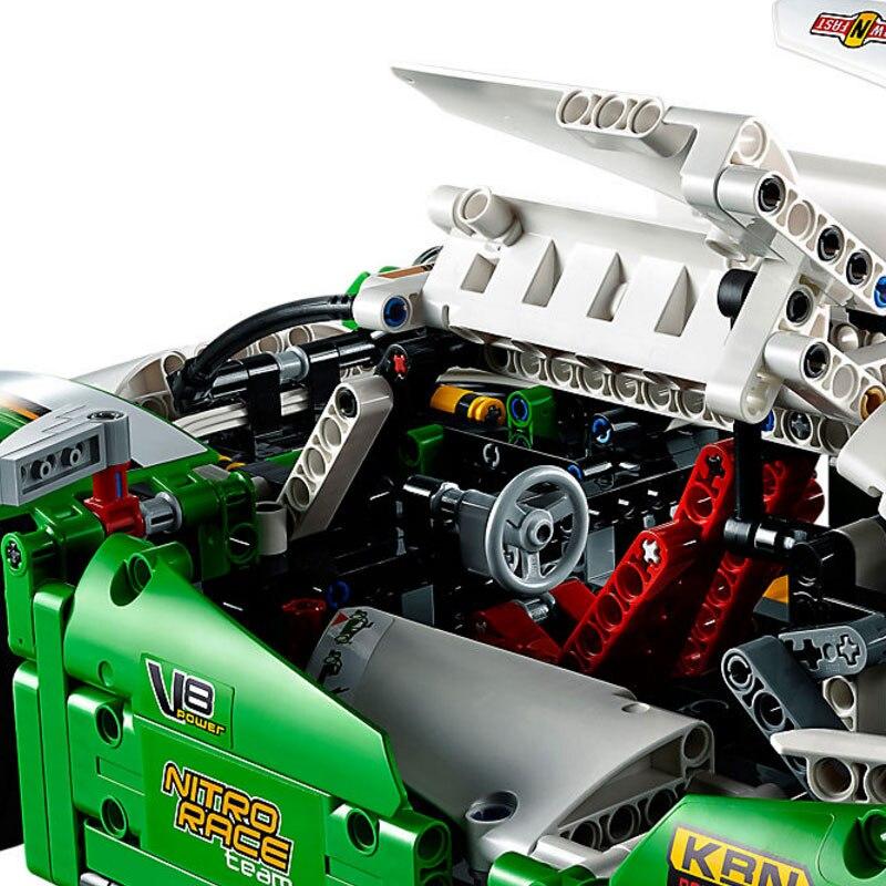 Bloki Technic 24 godzin samochód wyścigowy 1249 sztuk modelu klocki zabawki dla dzieci montażu technika samochód sportowy blok w Klocki od Zabawki i hobby na  Grupa 2