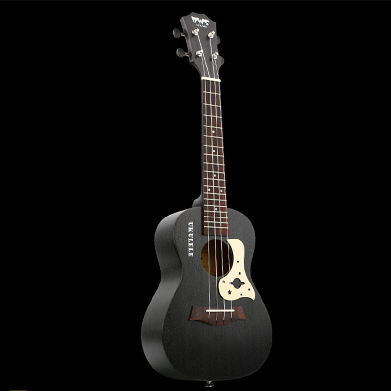 23 Inch Ukulele Mahogany Guitare Ukulele 4 Strings Rosewood Black Hawaiian Guitar Music Instrument
