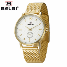 BELBI New Elegant Fashion Watch Women Mesh Bracelet Real Little Dial Refinement Casual Quartz Wristwatch Ladies Relogio Feminino