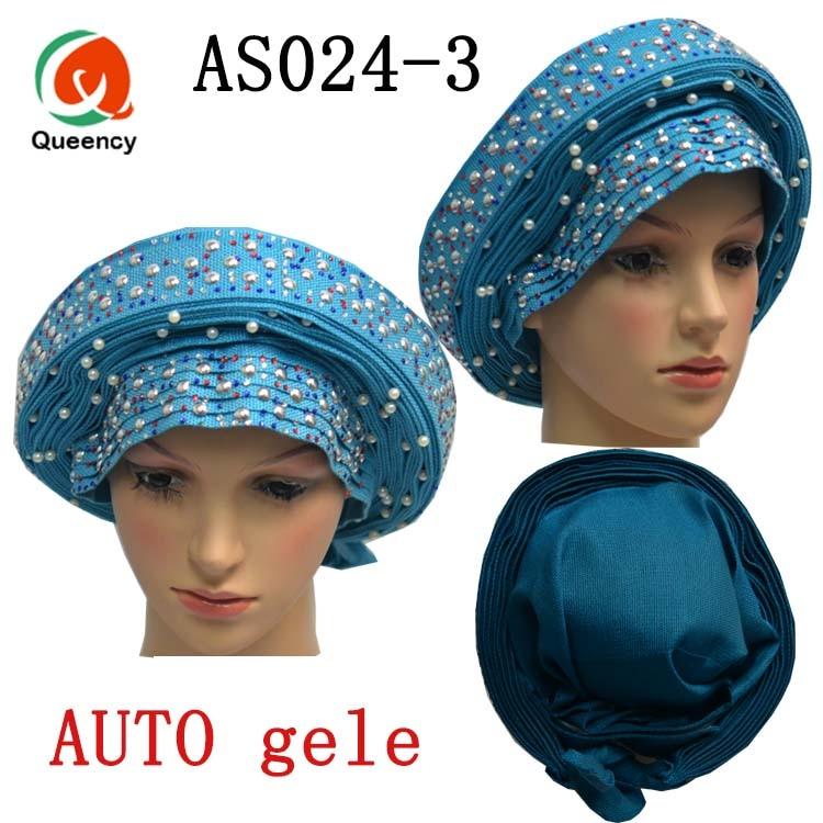 Queency africano Auto Gele Aso Oke Headtie señoras Auto Gele sombrero usar envoltorios para boda y fiesta Dhl envío gratis AS024-in Tela from Hogar y Mascotas    1