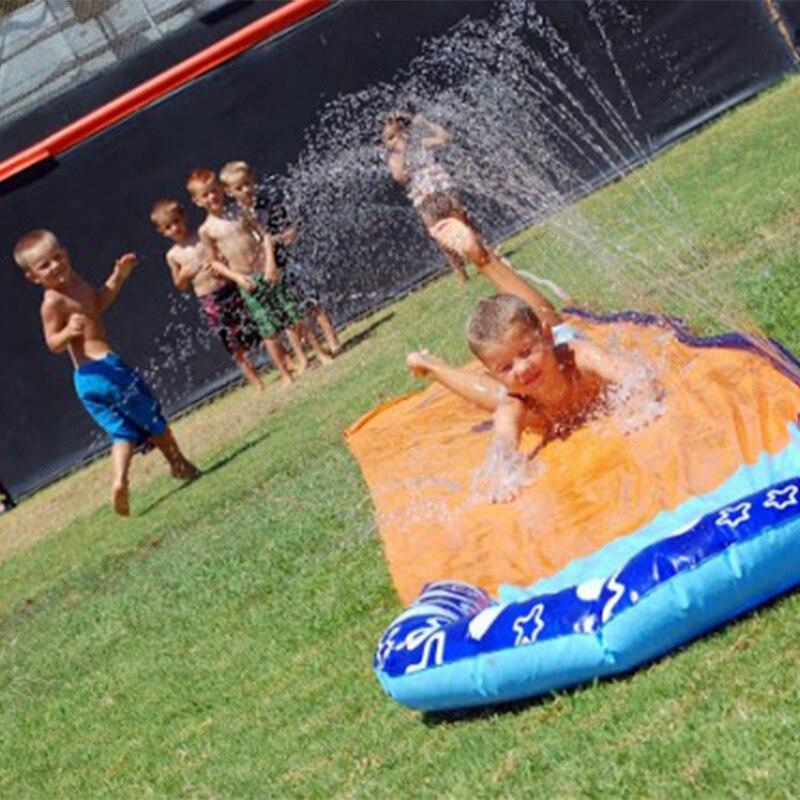 4.8 m Géant Surf 'N Slide Gonflable Jouer Center Toboggan Pour Enfants D'été Fun éclairage Extérieur Piscine Jouets De Natation piscine Jeux