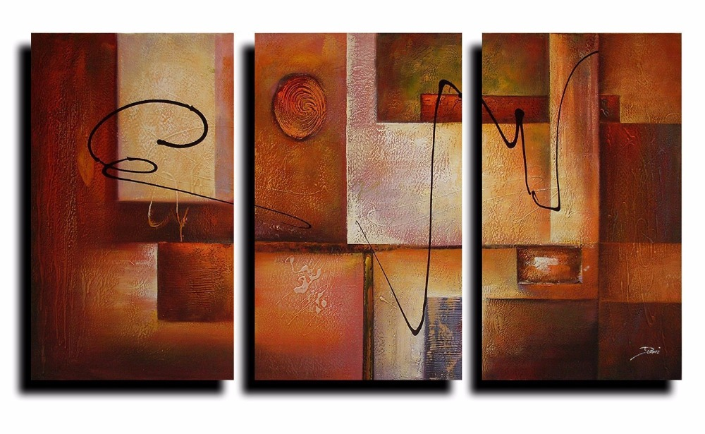 modern wall art 3 panel geometric graphes modern canvas wall decor 11360