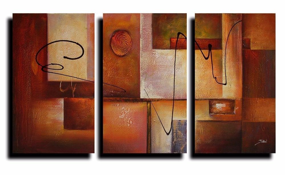 3 Panel Geometric Graphes Modern Canvas Art Wall Decor