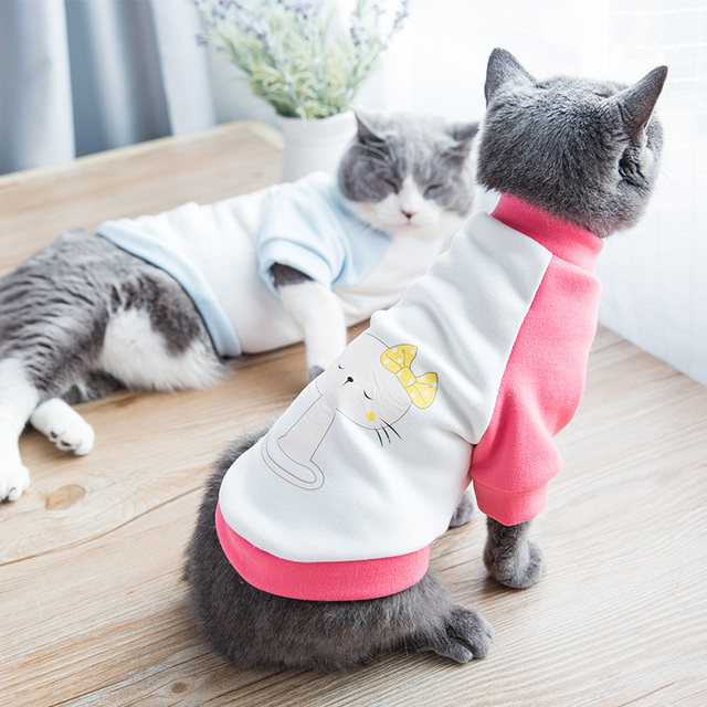 Słodkie Kot Ubrania Pet Kitten Sweter Lalek Brytyjski Kot Garfield