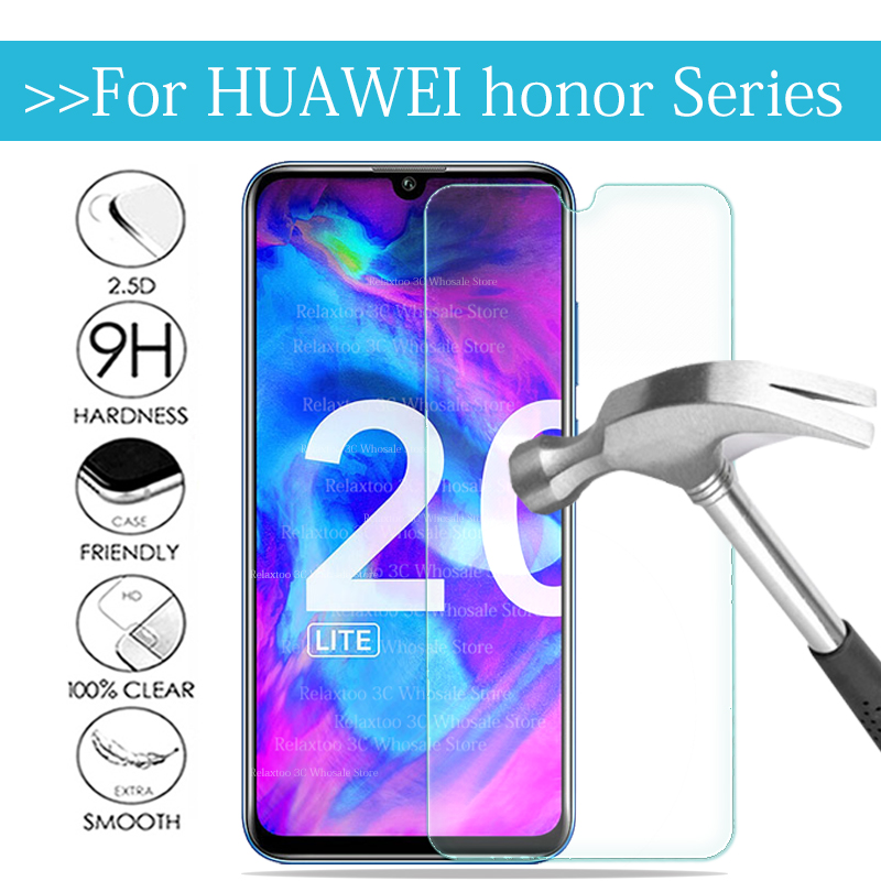Tempered Glass On Honor 20 10 9 Lite Light 10i Protective Glas For Huawei Honor 20 Lite Glass Screen Protector Safety Phone Film