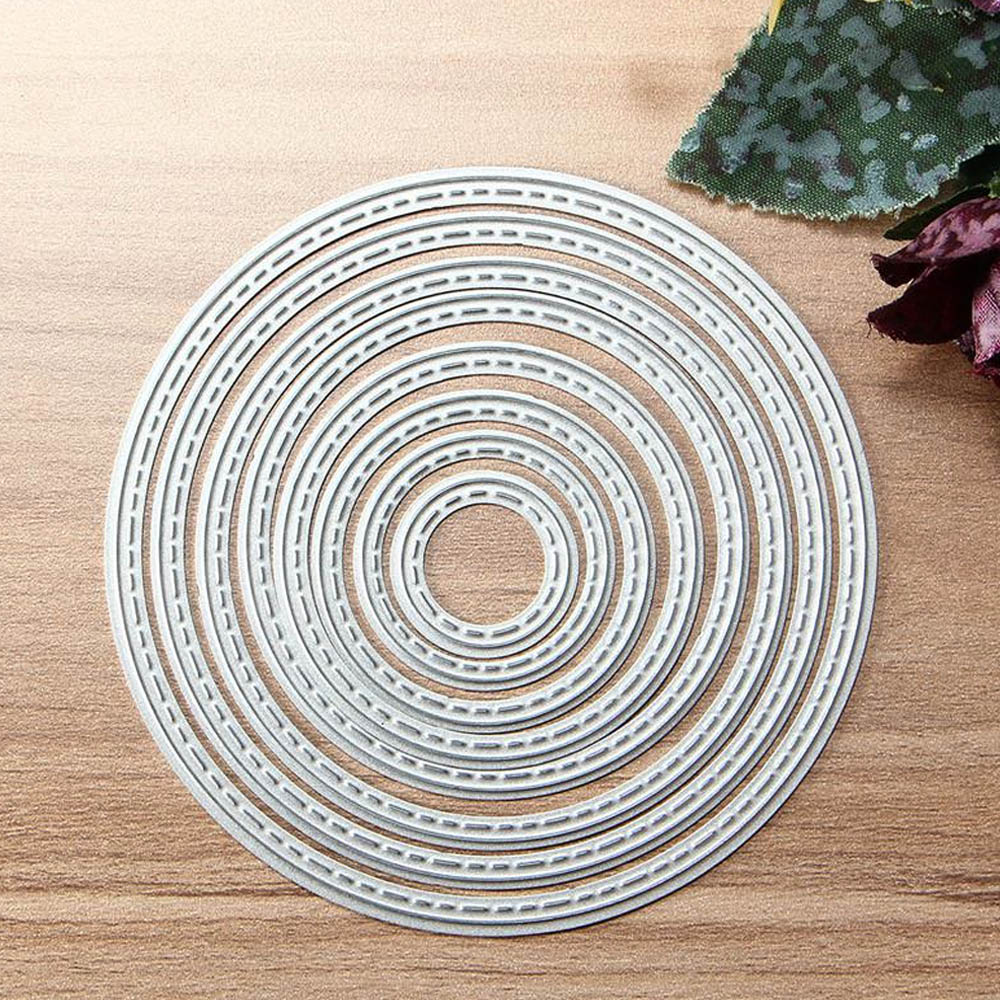 8PCS Assorted Size Metal Carbon Steel Round Circle Embossing Cutting ...