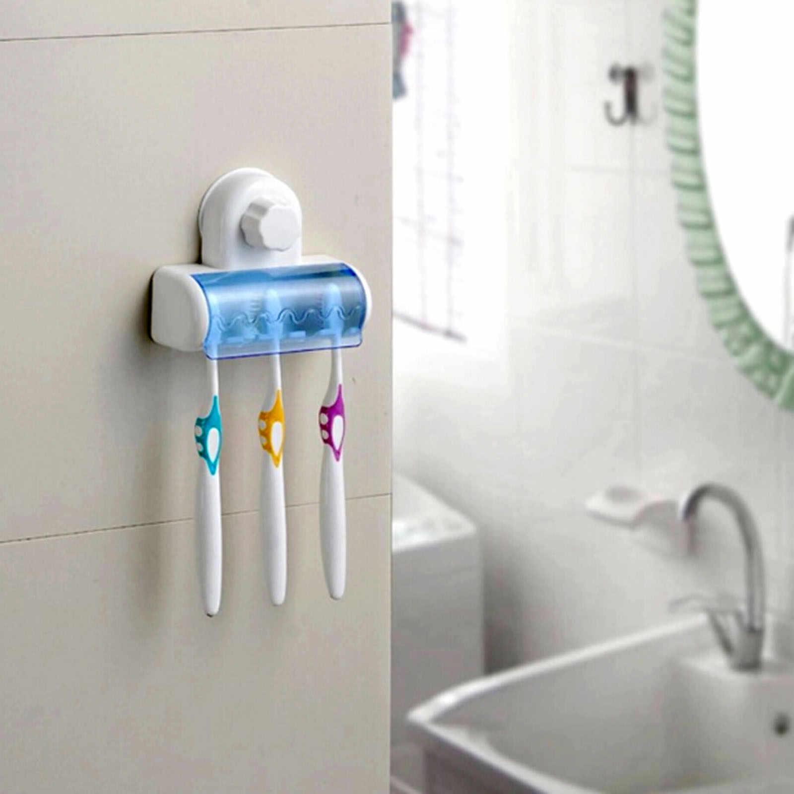 2016 nowy przyssawka do montażu na ścianie łazienka 5 haczyków szczoteczka do zębów SpinBrush stojak uchwyt na